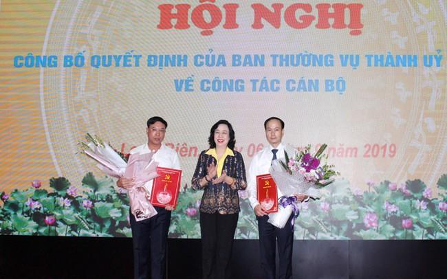Công bố các quyết định về công tác cán bộ tại Quận ủy Long Biên