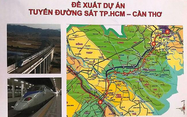 Dự án đường sắt TP HCM – Cần Thơ: Sẽ nắn tuyến để 'đổi đất'?