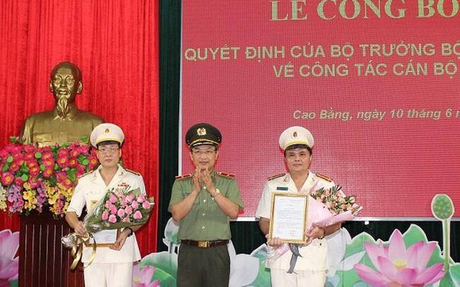 Công an tỉnh Cao Bằng có hai tân Phó Giám đốc