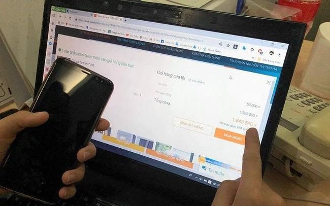 Mua hàng tại Lazada giá hơn 100 ngàn, phải trả phí... 8 triệu