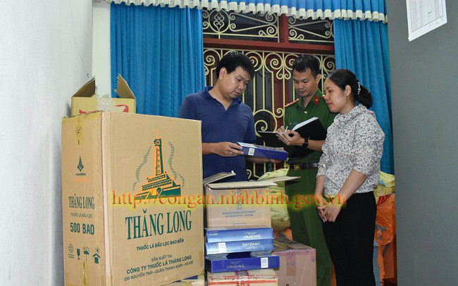 Phá 'ổ' buôn thuốc lá lậu số lượng lớn tại Ninh Bình