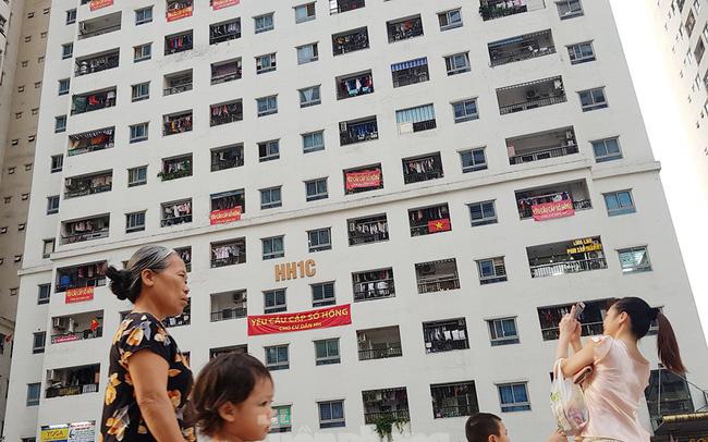'Làn sóng' băng rôn đòi sổ hồng ở chung cư HH Linh Đàm