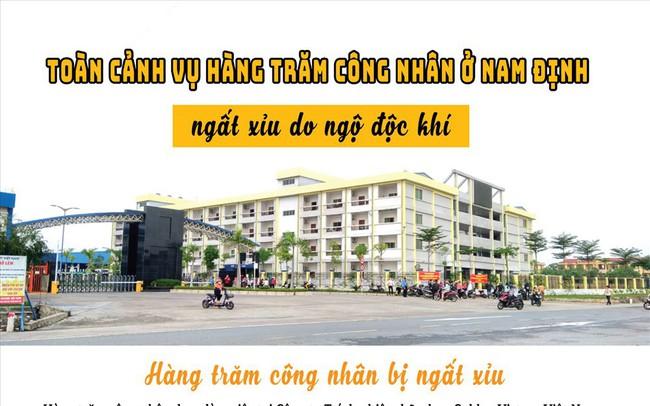 Toàn cảnh vụ công nhân ở Nam Định liên tiếp ngất xỉu do ngộ độc khí