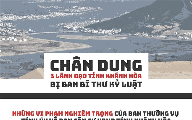 Infographic: Chân dung 3 lãnh đạo tỉnh Khánh Hòa bị Ban Bí thư kỷ luật