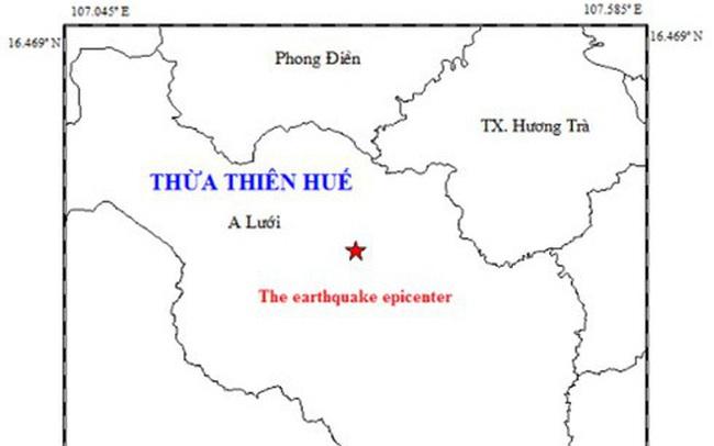 Động đất 3,3 độ richter trong đêm gây rung lắc ở huyện miền núi Thừa Thiên - Huế