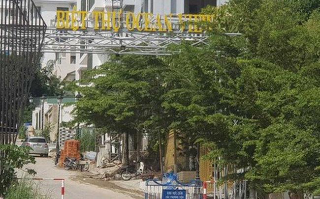 Chính quyền lập chốt chặn thi công sai phạm tại dự án biệt thư Ocean View Nha Trang