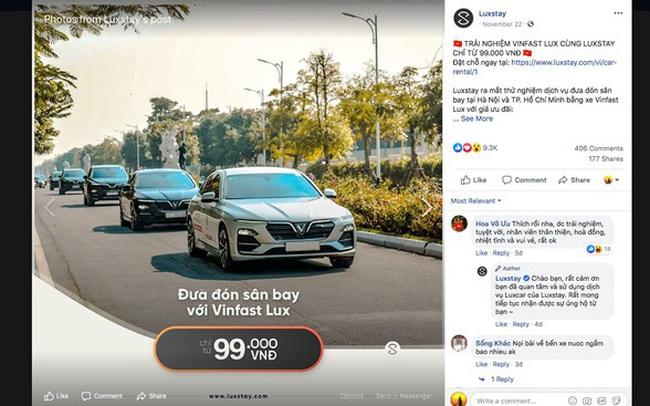 """Luxstay thò một chân vào mảng đặt xe, """"chiêu dụ"""" khách hàng bằng giá sốc 99 ngàn đồng đi từ sân bay Tân Sơn Nhất đến các quận tại TP. HCM"""