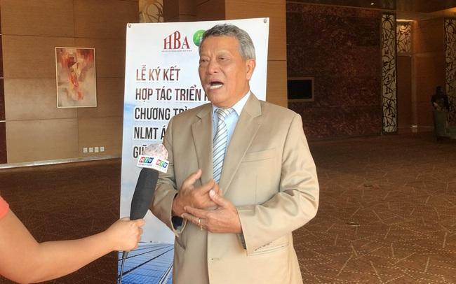 Chủ tịch HBA Nguyễn Văn Bé: Điện mặt trời áp mái không chỉ mang lại lợi ích thương mại mà thời gian hoàn vốn đã được rút ngắn phân nửa chỉ từ 5-7 năm