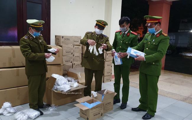 Ngăn chặn lô hàng hơn 35.000 khẩu trang, găng tay cao su có dấu hiệu vận chuyển lậu qua biên giới