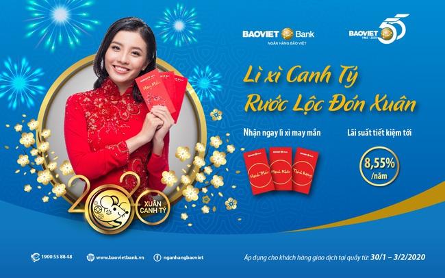BAOVIET Bank triển khai chương trình Lì xì Canh Tý – Rước lộc đón xuân, Lãi suất tới 8,55%/năm