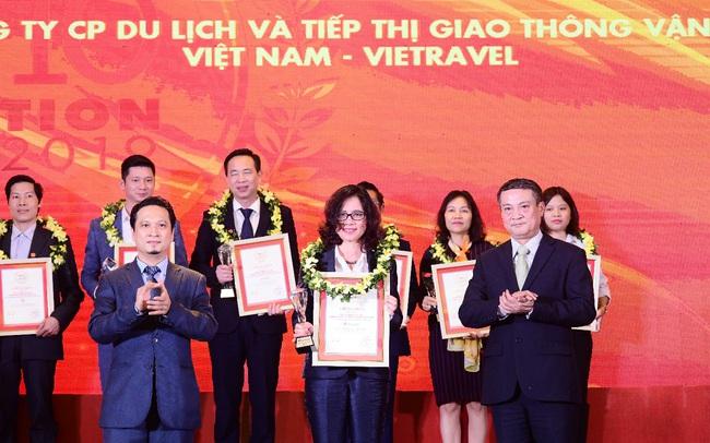 Vietravel vinh dự 3 năm liên tiếp dẫn đầu Top 10 công ty uy tín ngành du lịch - lữ hành 2017 - 2019