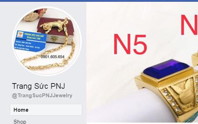PNJ cảnh báo khách hàng các trang thông tin giả mạo