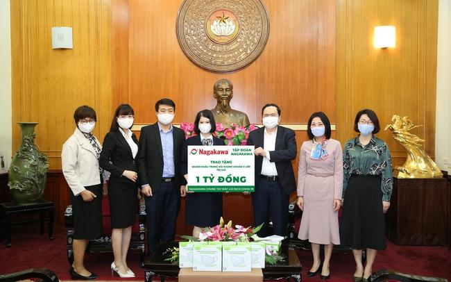Tập đoàn Nagakawa ủng hộ 60.000 khẩu trang trị giá 1 tỷ đồng phòng, chống dịch Covid-19