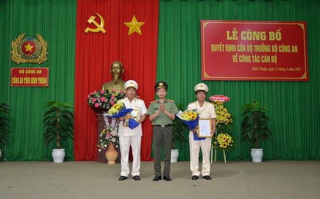 Bộ Công an bổ nhiệm hai Phó giám đốc Công an tỉnh Bình Thuận