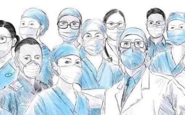 """Xúc động lời nhắn gửi bệnh nhân 116: Chúng tôi ngả mũ thán phục các """"siêu nhân"""" như anh, hãy tạm nghỉ ngơi và tiếp tục kiên cường chiến đấu với virus COVID-19 nhé!"""