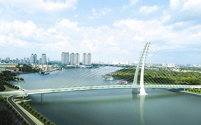"""Cây cầu thứ 4 vượt sông Sài Gòn sang Thủ Thiêm khoảng 5.200 tỷ, thiết kế theo ý tưởng """"tre Việt Nam"""""""
