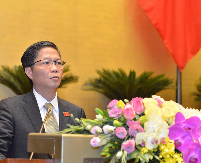 Bộ trưởng Bộ Công Thương Trần Tuấn Anh báo cáo thuyết minh Hiệp định EVFTA
