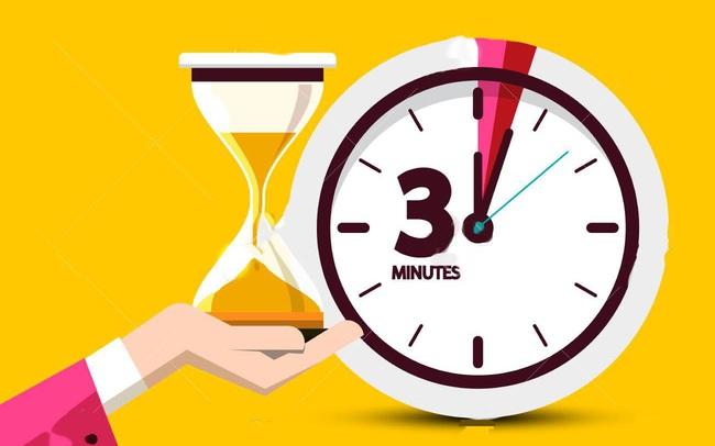 3 phút đủ để bạn làm gì? 180 giây tưởng chừng vô nghĩa có thể trở thành BƯỚC NGOẶT thành công nếu được tối ưu