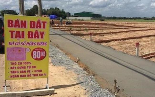 Nhiều địa phương không được thực hiện dự án phân lô bán nền