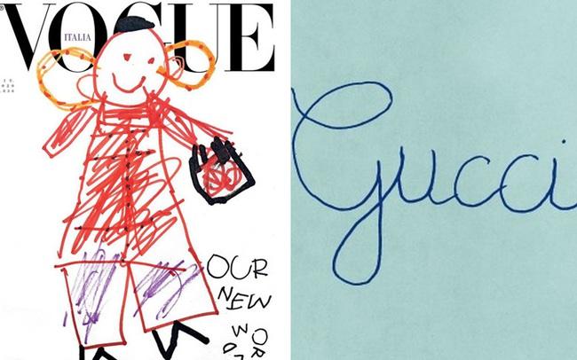 Nối gót Gucci, Vogue Ý cũng post ảnh bìa được vẽ nguệch ngoạc nhưng ý nghĩa đằng sau lại thật ấm lòng