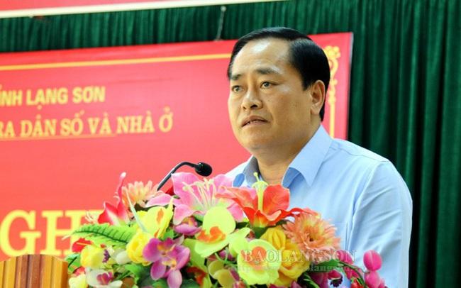Ông Hồ Tiến Thiệu giữ chức vụ Chủ tịch UBND tỉnh Lạng Sơn