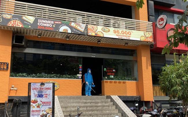 Lịch trình di chuyển của bệnh nhân 447, nhân viên cửa hàng pizza tại Hà Nội