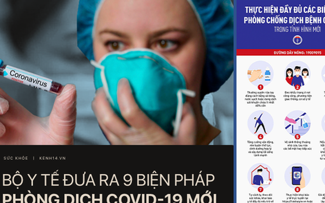Bộ Y tế khuyến cáo 9 biện pháp mới nhất trong công tác phòng chống dịch COVID-19 mà mọi người dân đều nên biết