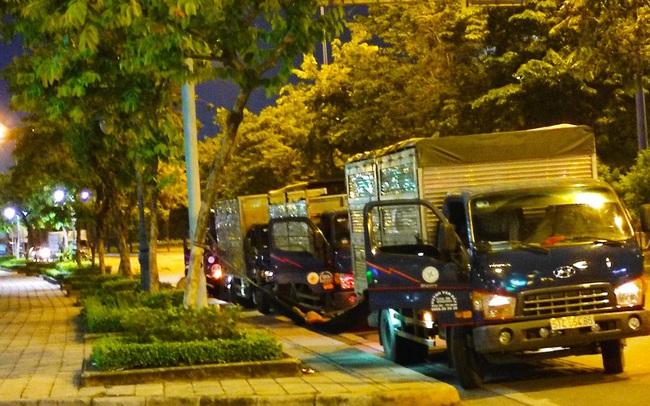 Nhiều tuyến đường ở Sài Gòn bị xe container chiếm dụng ngày đêm