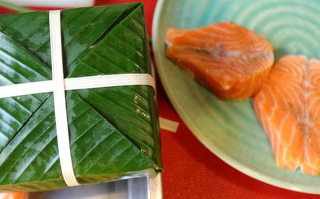 Hơn nửa triệu đồng một cặp bánh chưng trà xanh nhân cá hồi Na Uy