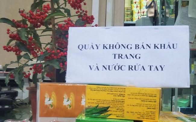 """Sau 1 đêm, chợ thuốc lớn nhất Hà Nội đồng loạt đặt biển """"không bán khẩu trang, miễn hỏi"""""""