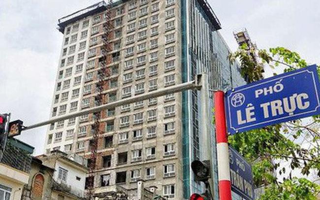 Hà Nội họp báo thông tin xử lý sai phạm ở tòa nhà 8B Lê Trực