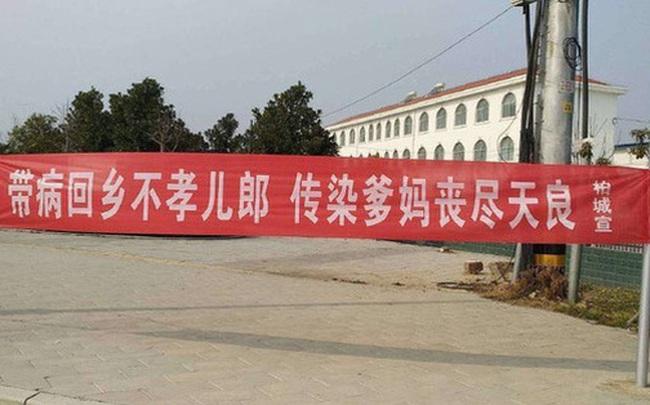 """Băng rôn phòng chống virus corona """"khó đỡ"""" ở Trung Quốc"""
