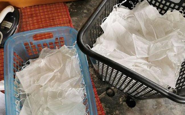 Tái chế kiểu Thái Lan: Ủi thẳng khẩu trang cũ rồi bán lại