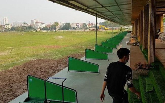 Cưỡng chế sân tập golf khủng 'mọc' trên đất dự án ở Hà Nội