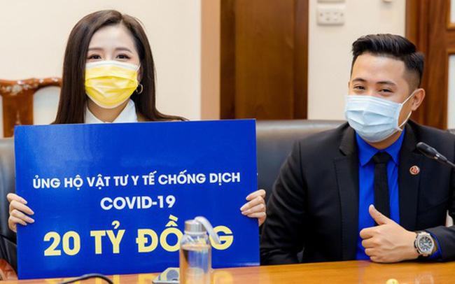 Mai Phương Thuý đại diện ủng hộ 20 tỷ đồng cho công tác phòng chống dịch Covid-19
