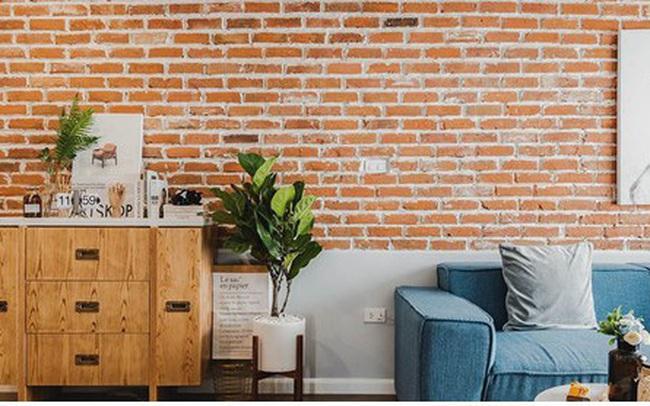 Ấn tượng căn hộ được trang trí bằng gạch tự nhiên