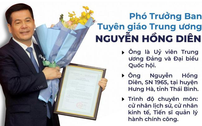 Chân dung tân Phó Trưởng Ban Tuyên giáo Trung ương Nguyễn Hồng Diên