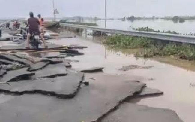 Chùm ảnh: Tuyến đường Quốc lộ 49B hư hỏng nặng