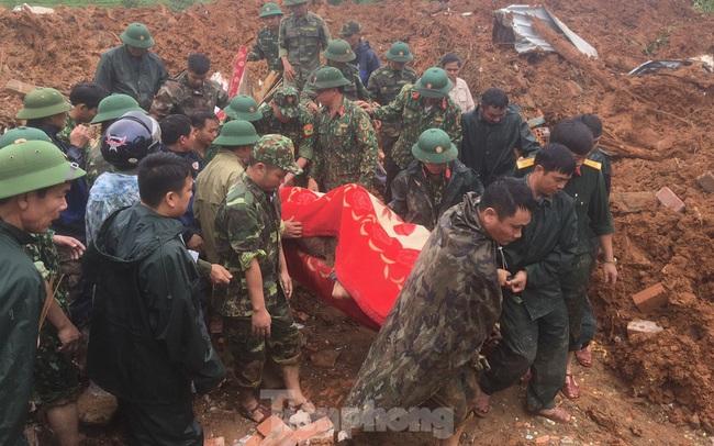 Danh tính 22 cán bộ, chiến sĩ gặp nạn trong vụ sạt lở đất ở Quảng Trị
