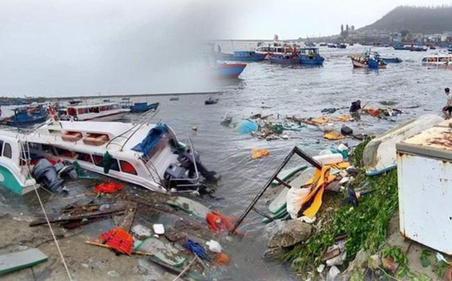 Những hình ảnh đầu tiên tại đảo Lý Sơn khi bão số 9 đi qua: Mọi thứ đều tan hoang, người dân thất thần bên đống đổ nát