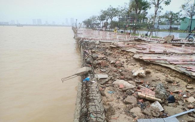 Những hình ảnh thiệt hại đầu tiên do bão số 13 gây ra ở miền Trung