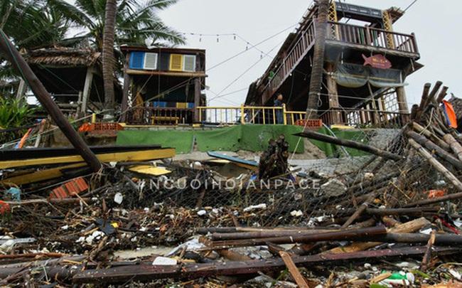 Biển An Bàng (Hội An) tan tác sau cơn bão số 13, du lịch ảnh hưởng nặng nề