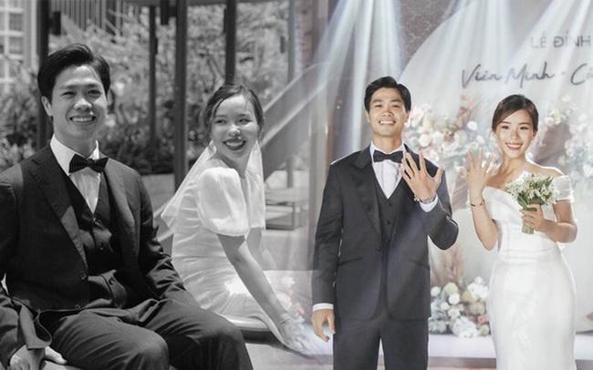 """Toàn cảnh siêu đám cưới của Công Phượng - Viên Minh: Cái kết trọn vẹn cho mối tình cầu thủ nổi tiếng và tiểu thư gia thế """"khủng"""""""