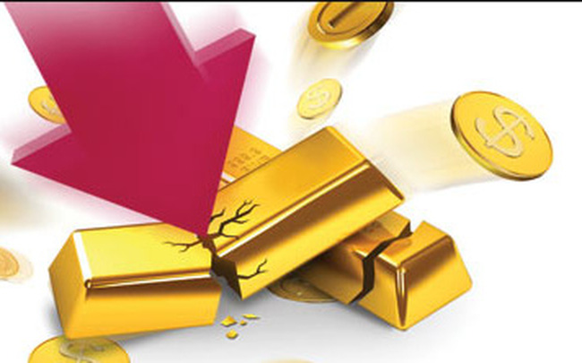 Giá vàng sụp đổ về sát 1.800 USD trong triển vọng u ám