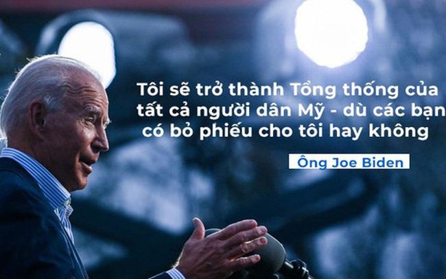 Tuyên bố đầu tiên của ông Biden sau khi đắc cử Tổng thống Mỹ: Tôi vinh dự khi được các bạn lựa chọn