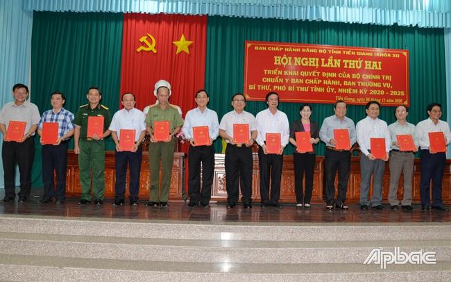 Bộ Chính trị, Ban Bí thư Trung ương Đảng chuẩn y nhân sự Tỉnh ủy Tiền Giang