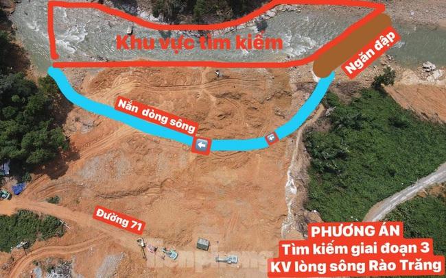Sông Rào Trăng được nắn chỉnh như thế nào để tìm 12 nạn nhân mất tích?