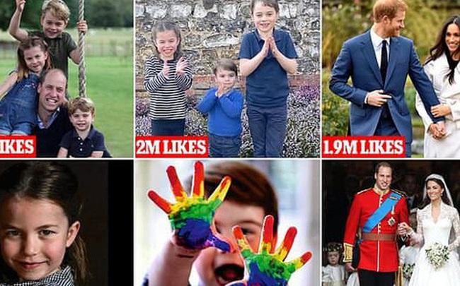 Nhìn lại năm 2020 của Hoàng gia Anh qua loạt ảnh nhiều like nhất: Những đứa trẻ nhà Công nương Kate nằm top, Meghan - Harry cũng có phần