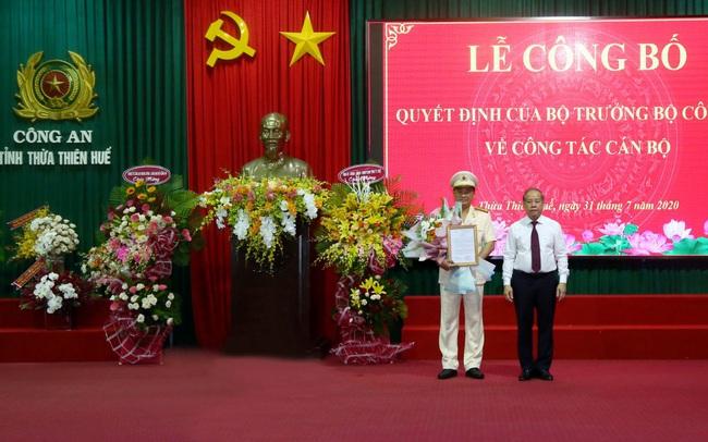 Trao quyết định bổ nhiệm Giám đốc Công an Thừa Thiên-Huế