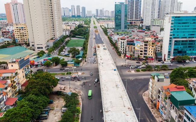 Cận cảnh cây cầu vượt lớn nhất Hà Nội sắp thông xe